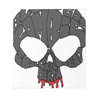 Word Skull Memo Notepads