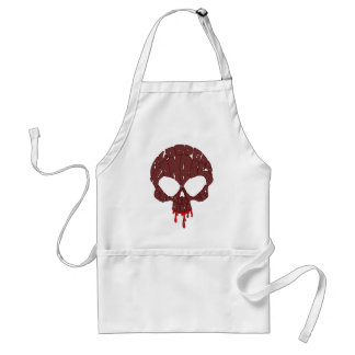 Word Skull Red Adult Apron