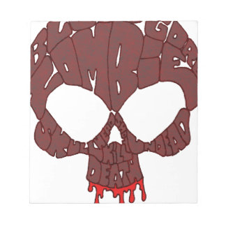 Word Skull Red Scratch Pad