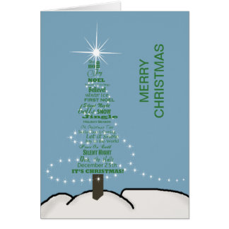 Word Tree - Holiday Card