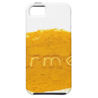 Word Turmeric written in powder on white backgroun iPhone SE/5/5s Case