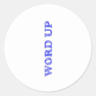 Word Up Classic Round Sticker