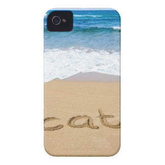 word vacation written on sand beach at sea Case-Mate iPhone 4 case