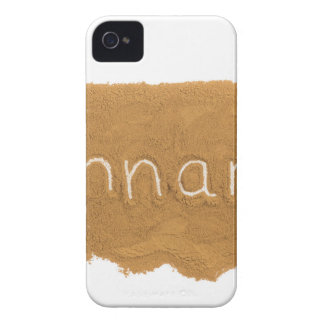 Word written in Cinnamon powder on white backgroun iPhone 4 Case