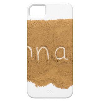 Word written in Cinnamon powder on white backgroun iPhone SE/5/5s Case
