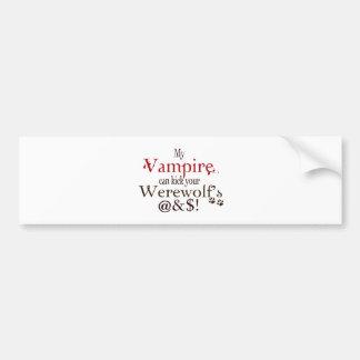 wordart del vampiro pegatina para auto