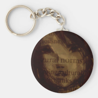 Worded Woman - For the book lover Basic Round Button Keychain