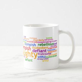 Wordle travieso taza