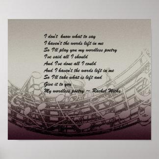 Wordless Poetry by Rachel Wicks Poster