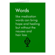 Words - a funny poem for someone in chemotherapy