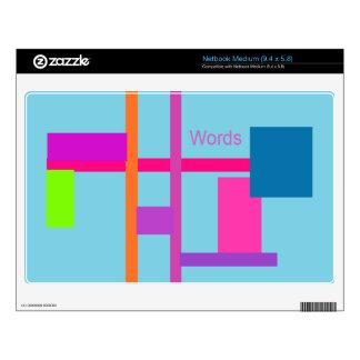 Words Aero Decal For Medium Netbook