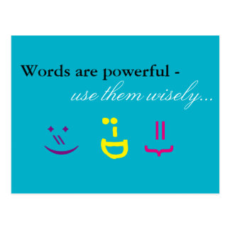 Words are powerful... postcard