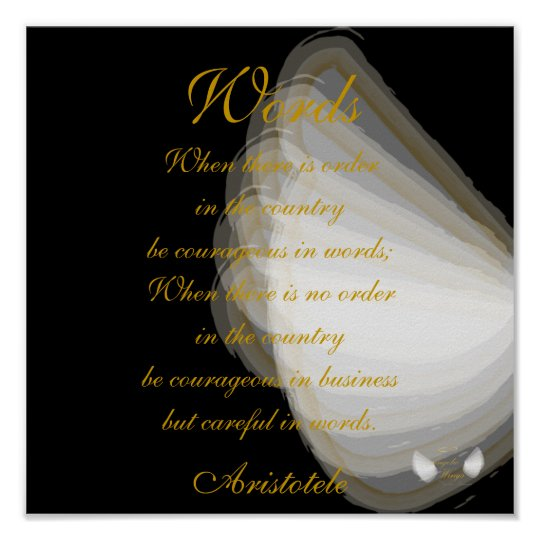 Words, Aristotele's Quote- Customize Poster