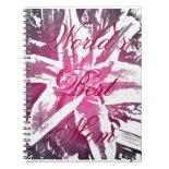 Word's Best Mom Purple Watercolor Flower Notebook
