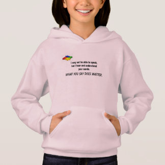 Words can make a difference hoodie