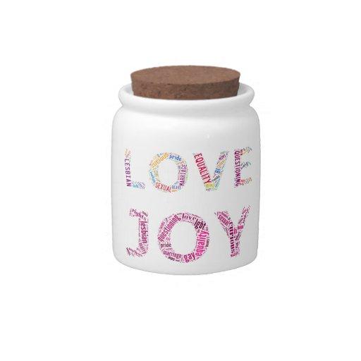 """Words"" Candy Jar"
