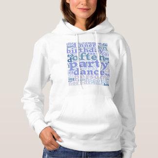 Words cloud hooded sweatshirt