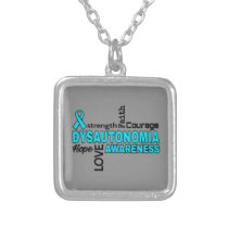 Words...Dysautonomia Silver Plated Necklace