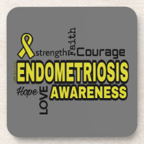 Words...Endometriosis Beverage Coaster