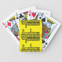 Words...Endometriosis Bicycle Playing Cards