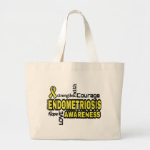 Words...Endometriosis Large Tote Bag