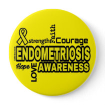 Words...Endometriosis Pinback Button
