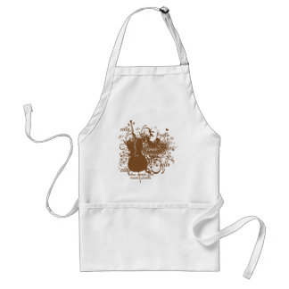 Words Fail Music Speaks Cello Musician Adult Apron