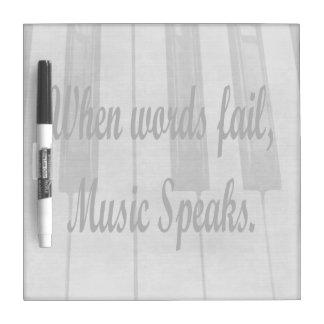 words fail piano music design Dry-Erase board