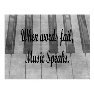 words fail piano music design postcards