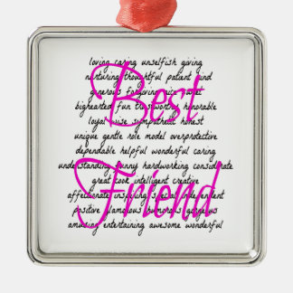 Words for Best Friend Metal Ornament