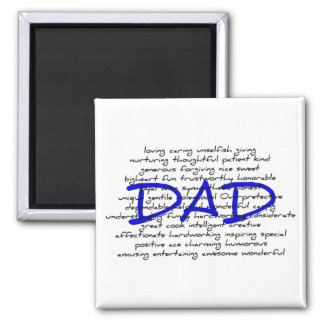 Words For Dad Refrigerator Magnets