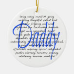 Words For Daddy Double-Sided Ceramic Round Christmas Ornament