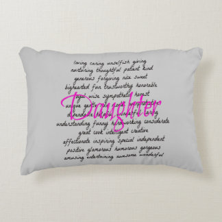 Words for Daughter Decorative Pillow