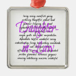 Words for Daughter-in-Law Square Metal Christmas Ornament