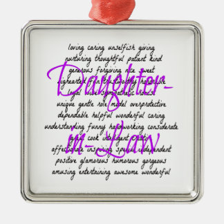 Words for Daughter-in-Law Christmas Ornaments