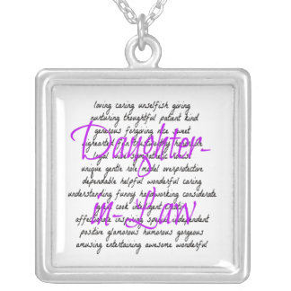 Words for Daughter-in-Law Silver Plated Necklace