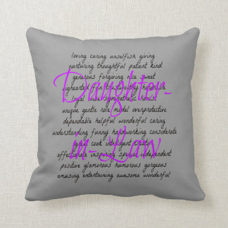 Words for Daughter-in-Law Throw Pillow
