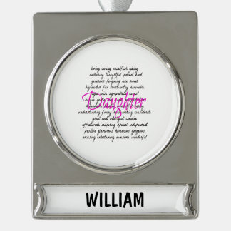 Words for Daughter Silver Plated Banner Ornament