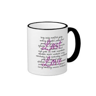 Words for Female Last Love Ringer Coffee Mug