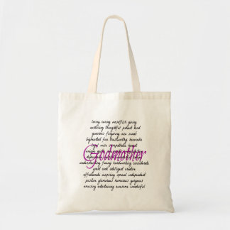 Words for Godmother Budget Tote Bag