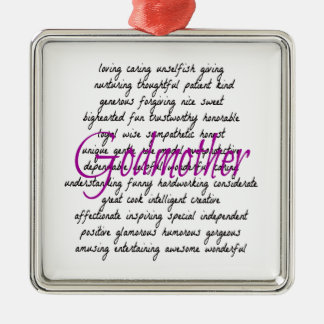 Words for Godmother Ornament
