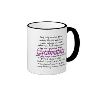 Words for Godmother Ringer Coffee Mug