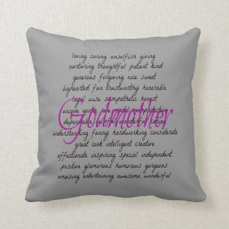 Words for Godmother Throw Pillow