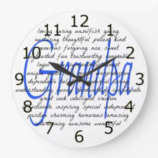 Words For Grandpa Large Clock