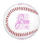 Words for Granny in Pink Baseball
