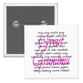 Words for Great Grandma Pinback Button