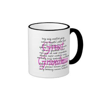 Words for Great Grandma Ringer Mug