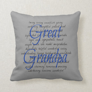 Words for Great Grandpa Throw Pillow