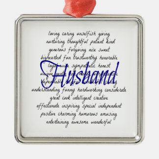 Words for Husband Metal Ornament