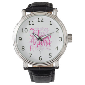 Words for Mama Wrist Watch